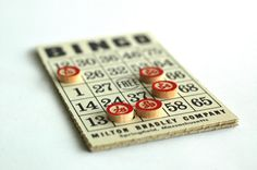 Vintage BINGO game cards. When board games were popular. Much more fun than sitting at a computer playing games.