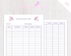 Income Tracker  Expenses Tracker Free Printables  Better