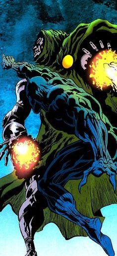 Black Panther (K'Shamba) vs Dr Doom by Kyle Hotz