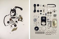 Photography Series of Dismantled Old Objects: Motion/ Stills by Photographer Todd Mclellan Tech Gadgets, Cool Gadgets, Things Organized Neatly, Phone Lens, Old Phone, Wireless Headphones, Computer Headphones, Bluetooth, Cool Tech