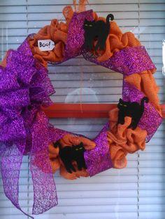 Halloween 2015, Workplace, Wreaths, Decor, Decoration, Door Wreaths, Deco Mesh Wreaths, Decorating, Floral Arrangements