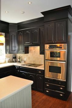 Home Interior, Painting Kitchen Cabinet: Find your Colors: Black Painting Kitchen Cabinet