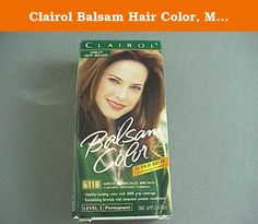 Clairol Balsam Hair Color, Medium Bronze Brown (611B). Balsam Color is designed to give you three signs of beautiful color – healthy-looking hair with color that is long-lasting and shiny.; 100% gray coverage, even on the most resistant grays.; Easy-to-use tear-tip applicator and shampoo-in formula; Long-lasting color that's healthier-looking and shinier than before you colored. .