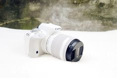 My new DSLR: the beautiful and white Canon EOS 100d