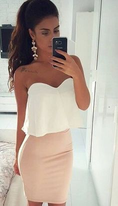 Why can't I even find these clothes and then think to put them together to look like this? Stylist needed lol Source by Going out Dresses Night Out Outfit, Night Outfits, Mode Outfits, Sexy Outfits, Dress Outfits, Summer Outfits, Casual Outfits, Dress Up, Fashion Outfits