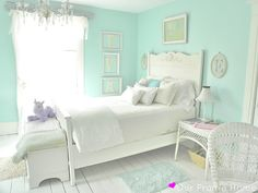 Pale Turpuoise Girls' Room - Our Prarie Home