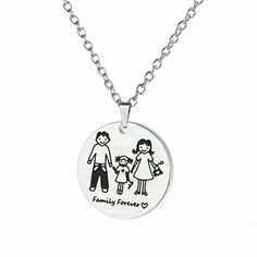 Family Forever Stainless Steel Necklace Husband Wife Child Daughter Mom and Dad #Unbranded #Medallion Fathers Day Gifts, Gifts For Mom, Husband Wife, Daughter, Stainless Steel Necklace, Birthday Gifts For Girls, Mom And Dad, Dads, Gift Ideas