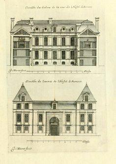 Elevations of the Hôtel d'Aumont, Paris