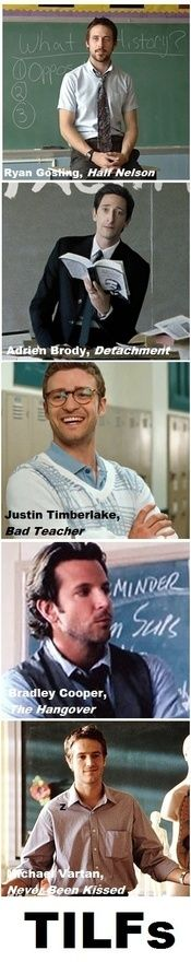 Why didnt the teachers at my school look like this? I feel short changed