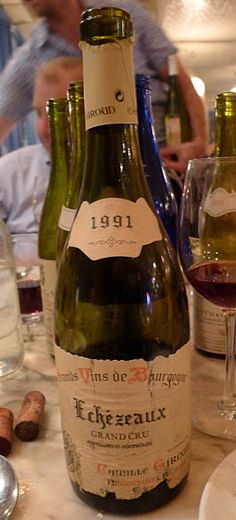 1991 Camille Giroud, Échezeaux Grand Cru. Earthy, lovely and fading. Black dirt and topsoil notes over a delicate sour cherry core. Finished with pretty strawberry compote notes. © 2013 Justin Berlin