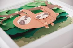 Whimsical Paper Animal Illustrations Vaclav Bicha Strictlypaper Sloth_side