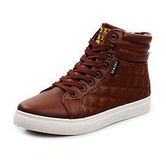 1a9a9844cbd Sapatos Masculinos - Tênis Social - Preto   Marrom   Amarelo   Branco -  Courino -