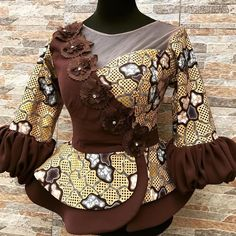 Best African Dresses, Latest African Fashion Dresses, African Print Fashion, African Wear, African Style, Ankara Peplum Tops, Ankara Skirt, African Fashion Traditional, Trendy Ankara Styles