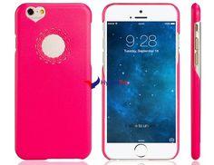 Etui en plastique Design Coeur et fleurs pour l'iPhone 6 (rouge)