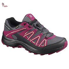 4717fb96d80 ... Chaussures de marche nordique pour femme - rouge - Rose gris
