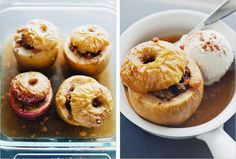 Baked apples with spices and nuts. Kind of like apple crumble, but simpler