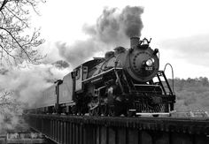 Southern Rwy 630 in Chattanooga, TN.A very recent restoration of a classic 2-8-0 crosses over the Chickamauga Creek bridge in Chattanooga, Tennessee. The Tennessee valley RR Museum spent the last 8 years restoring 630