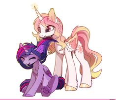 my little pony,Мой маленький пони,фэндомы,mlp art,Twilight Sparkle,Твайлайт Спаркл,mane 6,Princess Celestia,Принцесса Селестия,royal,MagnaLuna,artist,mlp shipping