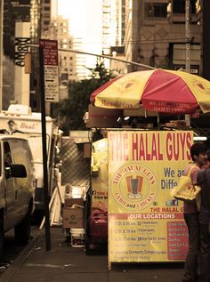 the Halal Guys on 53rd  6th Avenue