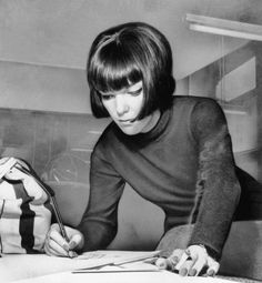 Mary Quant: British designer who is best known for the mini skirt and popularizing the mod style of the 1960s.