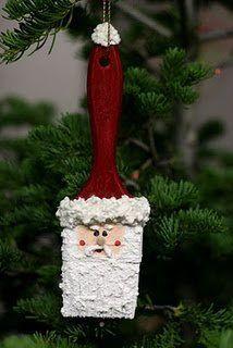 old paint brush Santa!