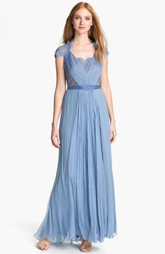 Tadashi Shoji Embellished Lace & Silk Chiffon Gown available at #Nordstrom