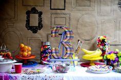 Wee Warhols Art Birthday Parties  decor www.facebook.com/weewarhols