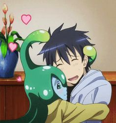 Suu & Kimihito Kurusu (Monster Musume: Everyday Life With Monster Girls) Kawaii Anime Girl, Anime Art Girl, Monster Musume Suu, Monster Museum, Monster Girl Encyclopedia, Everyday Life With Monsters, Anime Monsters, Wallpaper Naruto Shippuden, Nichijou