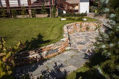 Идеи подпорных стен из натурального камня для вашего сада!