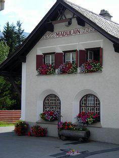 Madulain, Graubünden , Bahnhof