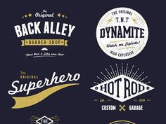 Customisable Vector Vintage Logo Designs by Chris Spooner on Dribbble Vintage Logo Design, Juventus Logo, Creations, Typography, Logos, Graphics, Google Search, Logo Designing, Letterpress