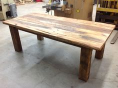 Handcrafted, Rustic Style Farmhouse Table