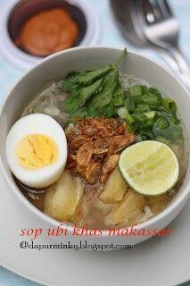 Sop ubi Makassar