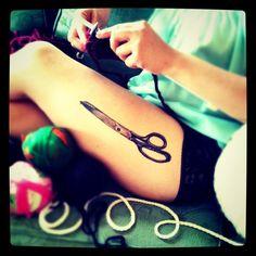 Scissors Tattoo by icontattoostudio on flickr
