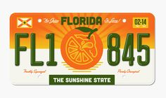 Florida by Halftone Def Well, It's Florida so where do I start. I know most of the country thinks that Florida is just a vacation destination where old people retire and absolutely ridiculous news headlines happen on a daily basis, so it would have. License Plate Designs, License Plates, Make Your Own Logo, Premium Logo, Logo Maker, Logo Design, Grid Design, Graphic Design, Cool Designs