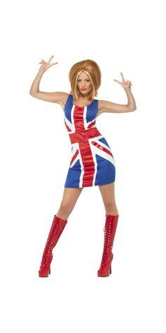 Ginger Spice Girl Union Jack Costume (29540) £14.99  #fancydress #diamond #jubilee