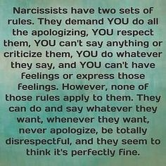 """Sounds like the people who raised me. People who just can't say words """"im sorry"""" and definitely don't want me to have my own thoughts or feelings. Narcissistic People, Narcissistic Mother, Narcissistic Abuse Recovery, Narcissistic Behavior, Narcissistic Sociopath, Narcissistic Personality Disorder, Narcissistic Characteristics, Bipolar Disorder, Trauma"""
