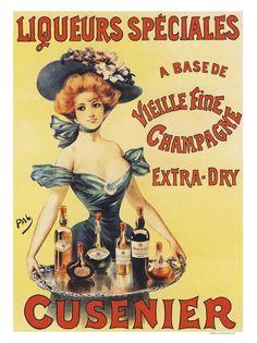 AP1824K - Liquers Speciales Cusenier, Drinks, Champagne