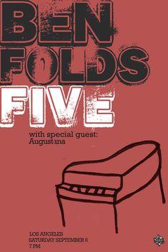 Ben Folds Five Live posters   Ben Folds Five Concert Poster