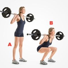 Barbell Squat http://www.womenshealthmag.com/fitness/barbell-toning/barbell-squat