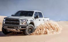 Download wallpapers 4k, Ford F-150 Raptor, 2017 cars, desert, offroad, Ford