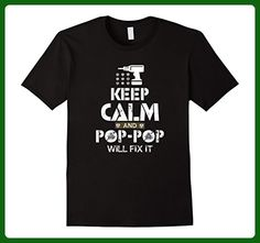 Mens Keep Calm and Pop Pop Will Fix It Shirt Gift for Father day XL Black - Holiday and seasonal shirts (*Amazon Partner-Link)