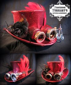 Professor Tursiart's Steampunk Top Hat and removable by TursiArt, $149.99