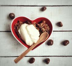 Omenapaistosta vaniljarahkalla
