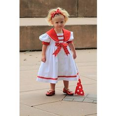 sailor dress in red