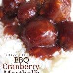 Slow Cooker BBQ Cranberry Meatballs Recipe | Six Sisters' Stuff