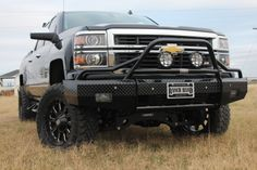 Ranch Hand Summit Bullnose Front Bumper for 2014+ Chevrolet 1500 trucks! Part # BSC14HBL1. High quality vehicle protection with an offroad style. Predrilled light bar for easy mounting of optional offroad lights.