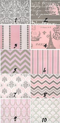 CURTAINS PREMIER FABRIC Bella Pink Grey Collection E Two Drapery Panels 50 x 96 Choose From Chevron Zig Zag Paris Stripes