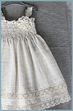LTIMO - algodón hermosa tela vestido para primavera y verano / Size 3T