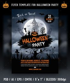 Classy Halloween Party Flyer Template  Halloween Party Flyer